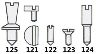 Head (Diagram 122) Dial Screws (Diagram 123) PACK*150 22.