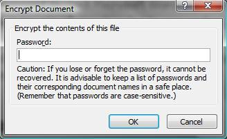 You may also set files to require a password to be modified.