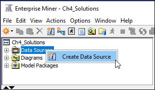 Right-click on Data Sources and click on Create Data Source