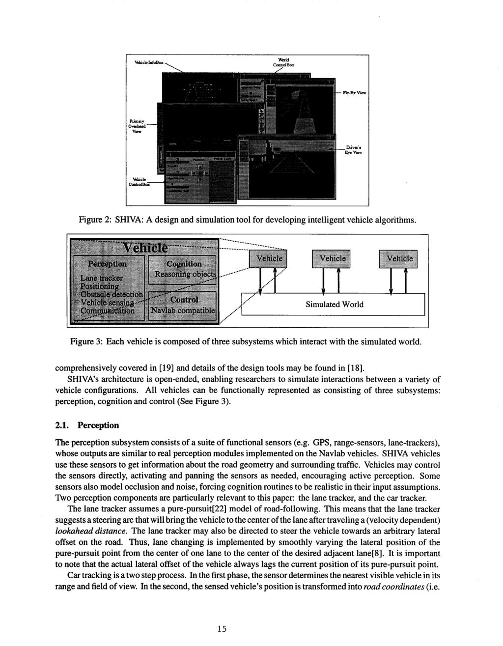 Figure 2: SHIVA: A design and simulation tool for developing intelligent vehicle algorithms.