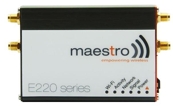 E220 Series * Focus: A highly versatile, reliable and rugged series of routers * With high-speed 3G or LTE, WAN, LAN, Wi-Fi and serial connectivity, Maestro