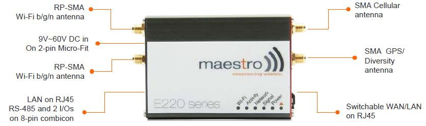 Maestro E220 has an automatic failover functionality that avoids you to lose communication anytime you have a connection problem.