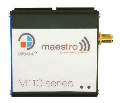 NEW! M110 Series * Focus: Compact & Intelligent Industrial Modems * Maestro M110 modems are designed to provide connectivity across a broad range of M2M and IoT applications.
