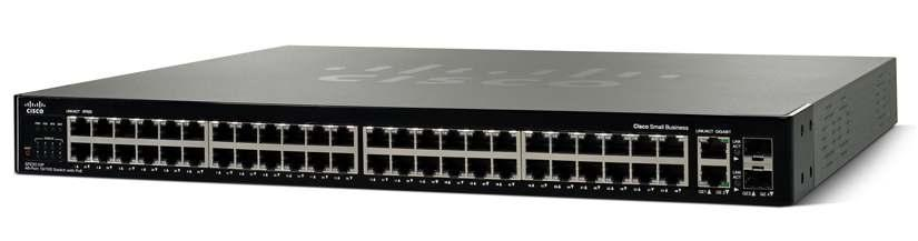 Cisco SFE2010P 48-Port 10/100 Ethernet Switch: PoE Cisco Small Business Managed Switches Secure, Reliable Switching to Support Growing Businesses Highlights Connects up to 48 network devices PCs,