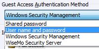 4.2.5 Security This section controls the security settings for the Host, and consists of 4 items, each are described below.
