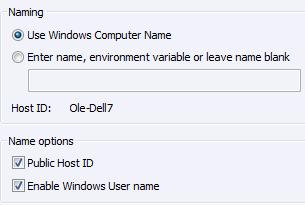 4.2.4 Program Options This section contains configuration options for the Host program and consists of 4 items covered below.