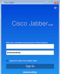 Jabber Login for MRA crobbins@ robbins@cisco.com robbins@cisco.