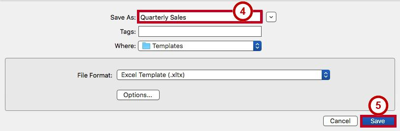 4. The Save Chart Template window will appear. In the Save As field, type a name for the chart template (See Figure 48). 5. Click Save (See Figure 48).