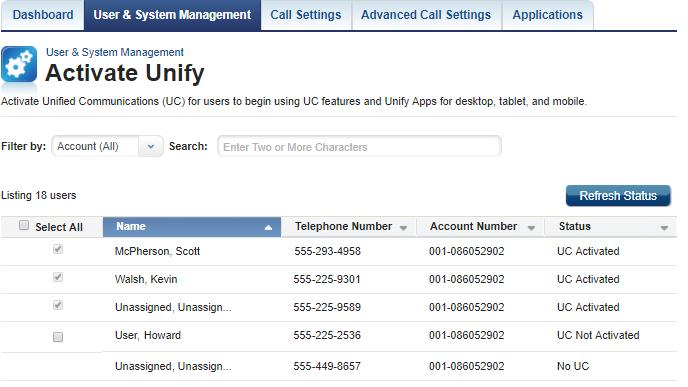 Get Started 2. On the MyAccount Portal Home page, scroll down to the My Services section and click the Activate Unify icon (see Figure 1). Result: The Activate Unify window opens (see Figure 2).