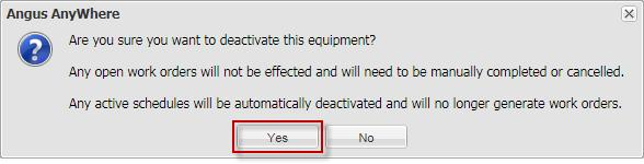 If equipment is replaced, create a new equipment entry n the Equipment list instead f editing the riginal equipment, as this will cause issues with the riginal equipment's wrk rder histry.