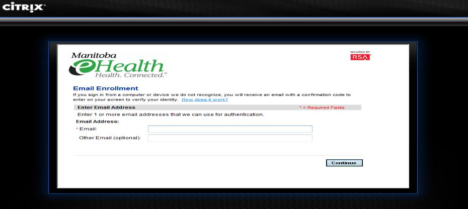 Click Cntinue Figure 6 ii. On the Email Enrllment page (Figure 7), enter yur WRHA email address and click Cntinue.