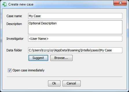 4. Import a case. Use this when you have received a copy of a case from another investigator as an ICF file.