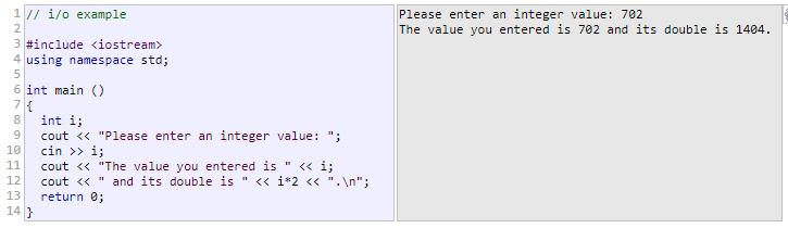 This operator is then followed by the variable where the extracted data is stored.