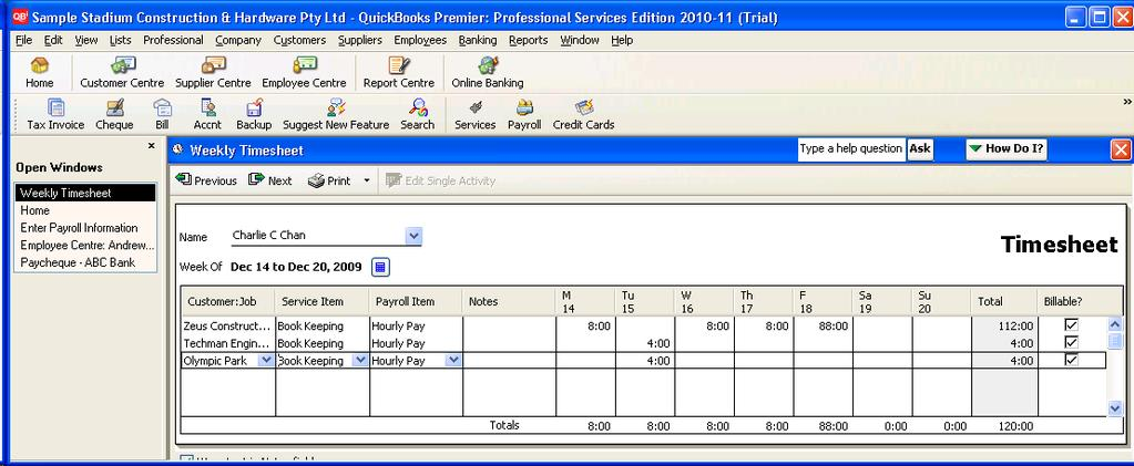 Integrating QuickBks Timesheets Imprt with Payrll Time recrds frm TimePr can be exprted in QuickBks Timesheets frmat fr integratin with QuickBks.