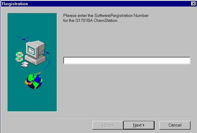 Installing the ChemStation Software Windows NT 4.0 software configuration requirements 6 The first screen that appears is the Welcome screen. Select Next to continue.