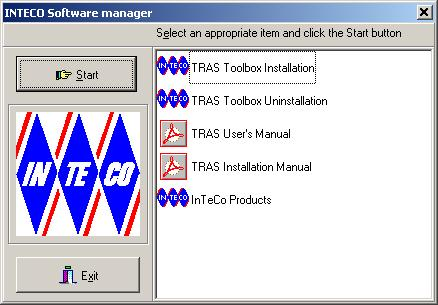 7. SOFTWARE INSTALLATION The installation program has to be started by a system administrator To start the installation program insert the CD-ROM into the drive, and run manager.