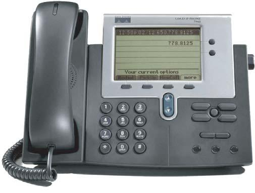 Cisco Unified IP Phone 7940G 1 2 3 4 5 6 7 8 9 17 16 15 14 13 12 11 10 68562 Item Description For more information, see... 1 Handset light strip Indicates an incoming call or new voice message.