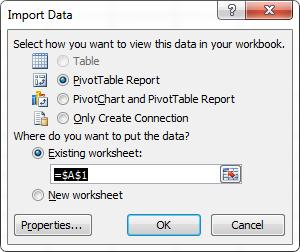 Figure 12 Import Data Dialog 4.