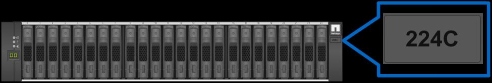7 Drive Shelves The EF570 all-flash array consists of a controller drive shelf that supports 24 SSDs and up to 4 DE224C