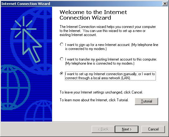 To use Windows Dial-Up Networking for dial-in connections, create a new Dial-Up connection for your ETC II: 1.