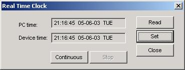 Chapter 5 Setting Up the ETC II Configuring Local Time Settings Time: 15:24:49 or >date Date (dd/mm/yy): 27/04/03 Using PAS Select the ETC II site from the list box on the PAS toolbar, check the