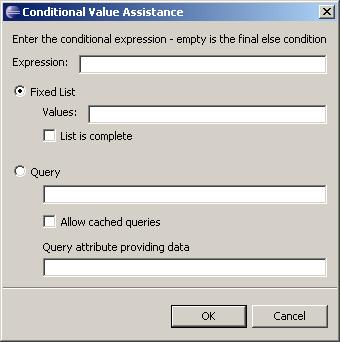 Managing Types 2. Specify the conditional value properties, as described in Table 47,