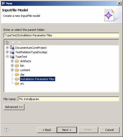 Building and Installing an Application The Select a wizard dialog displays. 2.