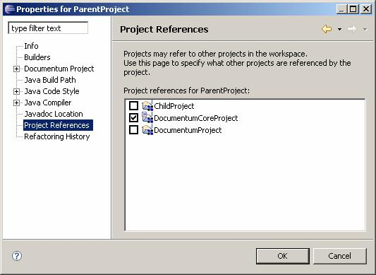 Managing Projects Referencing projects Composer lets you create references between projects. This is useful if you have projects that share resources, for example the same libraries or JAR files.
