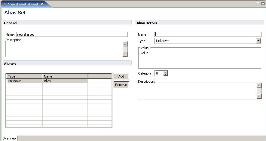 Managing Alias Sets 7. Enter the details for the alias in the Alias Details section, as described in Table 7,