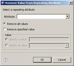 Managing Lifecycles Removing repeating attributes values Repeating attributes are attributes that can have more than one value.