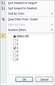 Filter Click in the list. On the Ribbon, click on the Home tab.