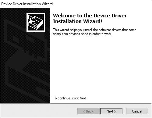 Click Next and then the dialog on the right will appear: Now click Install.
