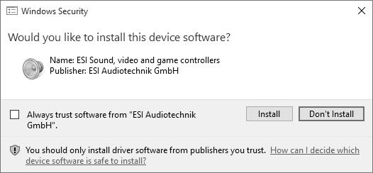 After some time an additional dialog will appear: Confirm this by clicking Next.