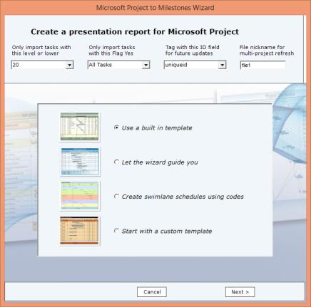 Create presentation reports for Microsoft Project. The Connections tab on Milestones Professional s toolbar offers easy access to all Microsoft Project options.