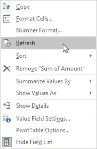Below you can find the two-dimensional pivot table. Update Pivot Table Any changes you make to the data set are not automatically picked up by the pivot table.