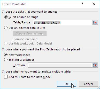 How to drag the required field in the pivot table?