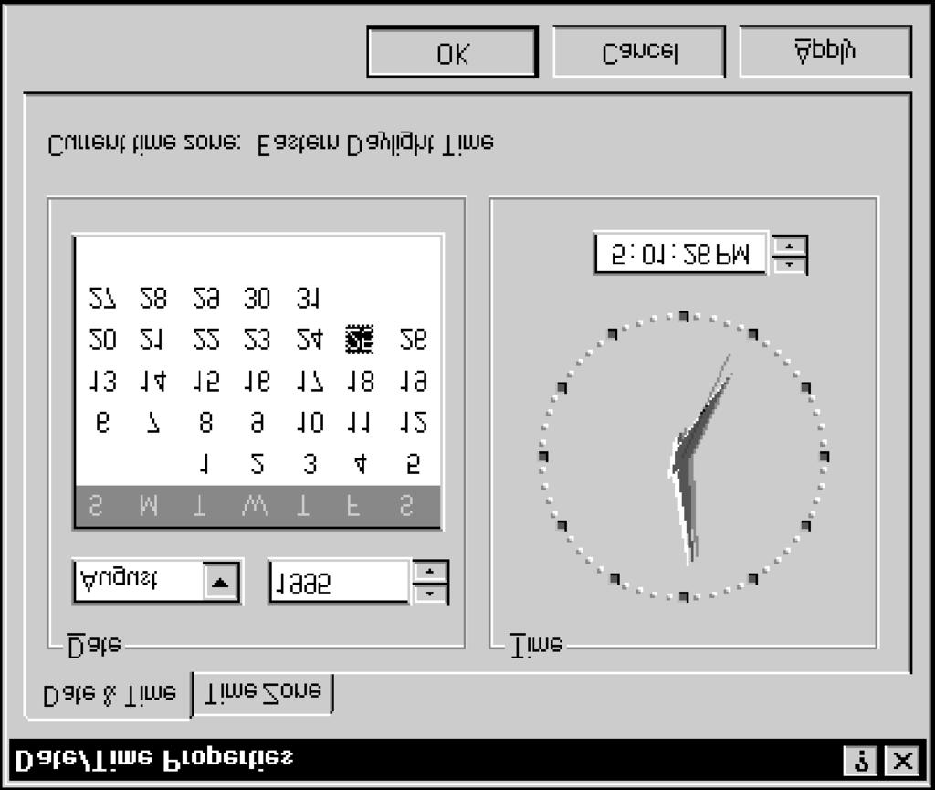 Lesson 15 - Changing Time Settings Windows NT Basics CHANGING THE DATE Usually the computer s date is set when the computer is assembled and, if the batteryoperated clock/calendar is working