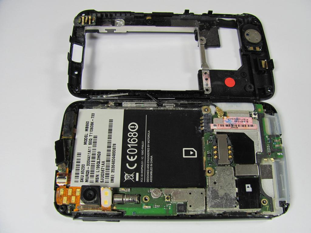Step 6 Carefully separate the back case from the rest of the phone by lifting it away