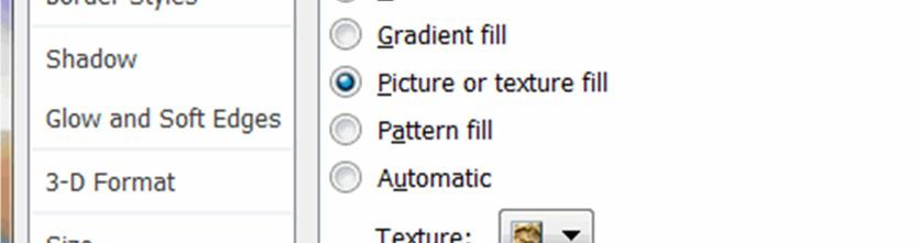 Click on the Texture drop down list and select the Papyrus option as