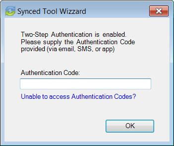 Microsoft Outlook. 2. After you receive your authentication code, enter the authentication code and press the OK button.