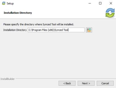 In the Installation Directory screen, select the location where you want the installation files to reside on your local