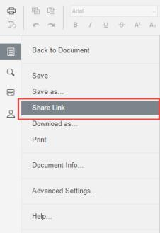 The Share Access dialog box displays. 2. You can create a public share link to allow anonymous users to edit the file: a.