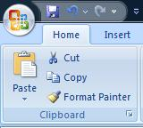 To COPY contents of a cell: Click on the cell, Select the Home tab, Click Copy from the Clipboard Group.