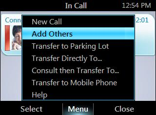HP 4120 Phone User Guide Escalate a Call to a Conference Call 2. Enter a phone number or select a contact, and then press Call. End a call From the In Call screen, press End.