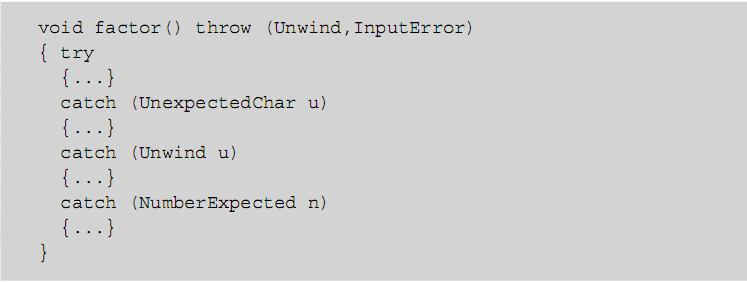 Exception Handling and Environments Example: