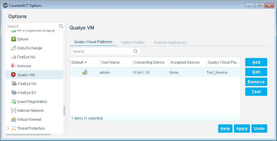 Option Profile Scanner Appliance Display report details for last scan Launch new scan Select a Qualys Option Profile.