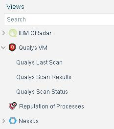 Display Qualys VM Inventory Information Use the CounterACT Inventory to view aggregate information for each of the Qualys VM properties, such as vulnerability severity, vulnerability category and CVE
