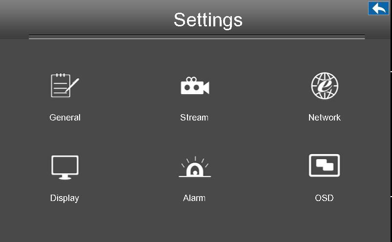 2.4.5 Settings Choose Menu > Settings in the Menu interface. The Settings interface is displayed.