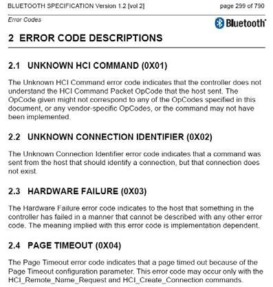 Error Code Descriptions