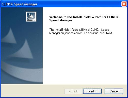 4: CLINCK Speed Manager InstallShield Wizard Preparing Setup When the setup